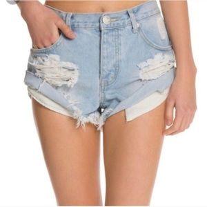 ONE TEASPOON Bandits jean shorts | 26 blue